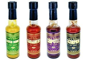 Pack-of-4-Tom-039-s-Sauces-HOT-Chilli-4-x-150ml-Bottles-2-x-FREE-GIFTS