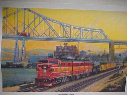 "Winfield,SP,/""The Overland Ltd at Crocket/"",18X24/"" signed/&#/'ed 7340 Railroad Art"