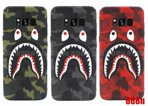 promo code d8945 5261b Details about A Bathing Ape Bape Shark Case For SAMSUNG Galaxy S10+ S10 S9+  S8 S7 Edge Note 9