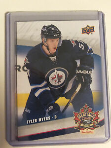 16-17-UD-Tim-Horton-039-s-Heritage-Classic-Rookie-RC-JETS-8-TYLER-MYERS