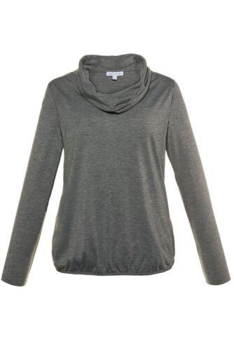 Gina Laura FASHION Shirt regular Rolli weiter Ausschnitt grau NEU