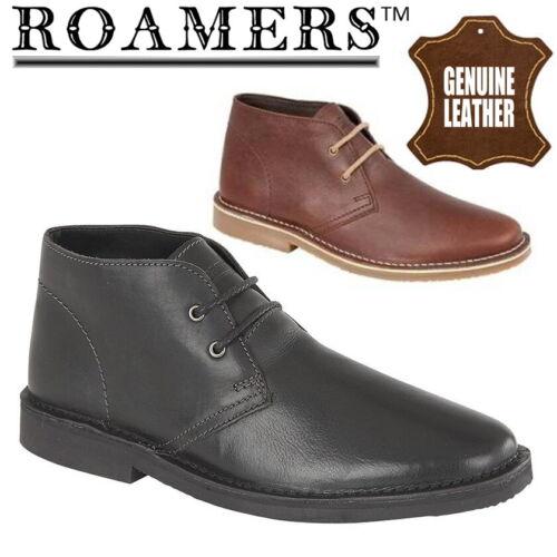 Roamers Maynard Homme Cuir Désert Bottes Smart Casual Chaussures Noir Marron