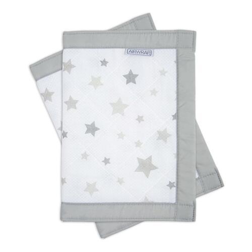 Silver Stars 2 faces berceau//lit//cotbed pare-chocs Airwrap Mesh bébé PROTECTEUR