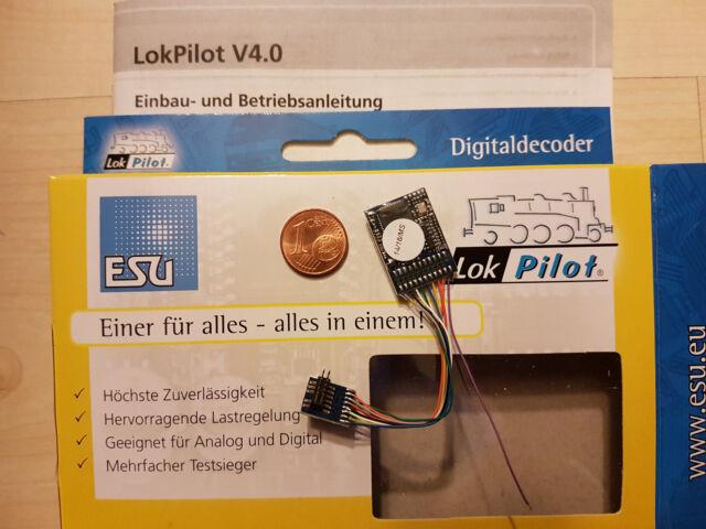 ESU 64616 LokPilot Decoder H0 V4.0 mfx/M4 MOT/DCC PluX12 auch für PluX16,PluX22