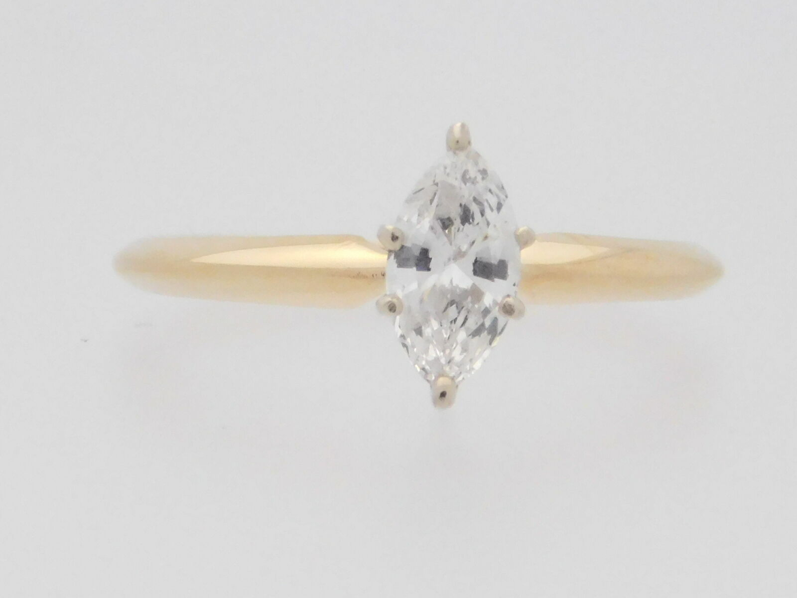 0.45 CARAT MARQUISE CUT DIAMOND SOLITAIRE ENGAGEMENT RING 14K YELLOW gold