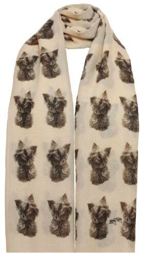 Sciarpa con Yorkshire Terrier Yorkie Cane Su Da Donna Fashion Scialle Wrap Mike Sibley