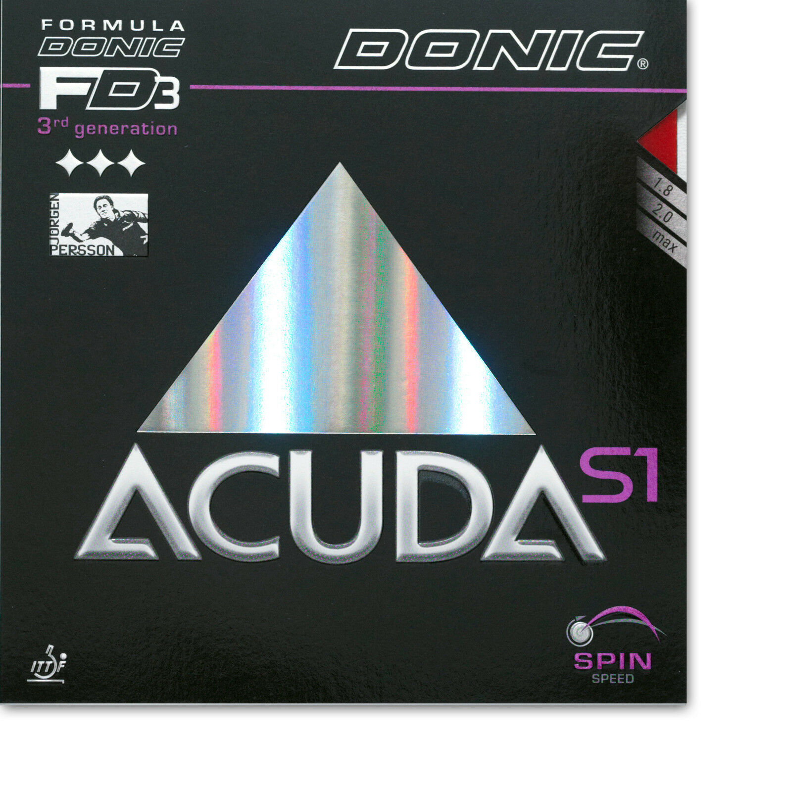 DONIC Acuda S1 2,0mm 2,0mm 2,0mm schwarz  NEU   OVP 69ffc0