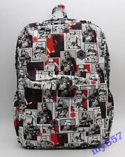 17'' Star Wars Stormtrooper Darth Vader Laptop Backpack Shoulder School Bag New