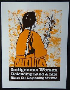 Salute-to-INDIGENOUS-WOMEN-Signed-Screenprinted-Poster-Art-by-MELANIE-CERVANTES