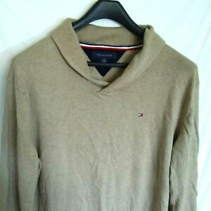 Tommy-Hilfiger-Womens-Light-Barown-Casual-Pullover-Top-Shirt-X-EXTRA-Large