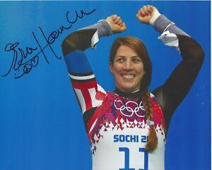 694d3936 ERIN HAMLIN signed 8 x 10 photo Team USA Luge Sochi Winter Olympics ...