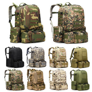 e60823b61fcd 50L Molle Tactical 3 Day Assault Military Rucksack Army Backpack ...