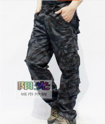 Men/'s Oversize Loose Camouflage Overalls Multi-pocket Casual Comfort Work Pants