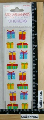 Mrs Grossman TINY PRESENTS Stickers RARE NEW UNOPENED PACKAGE BIRTHDAY CHRISTMAS