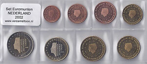 NEDERLAND-UNC-EURO-SET-2002-serie-van-8-munten-1-cent-t-m-2-euro
