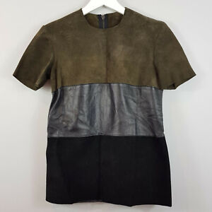 KAHLO-Womens-Leather-Top-Size-XS-or-AU-8-US-4