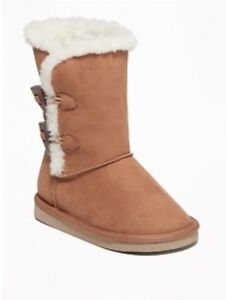 low price sale shop low priced NEW OLD NAVY Faux Suede Boots Tan for Toddler Girls Size 6 - 8 ...