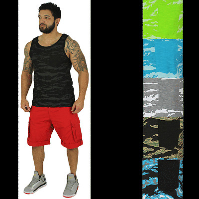 Modern Culture Men's Camo Pocket Tee Tank Top Bodybuilding Muscle