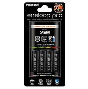 Uk Nk008 2h Eneloop Pro Bq Cc55e Charger 4aa Batteries Eu Plug Ebay