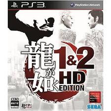 Ryu ga Gotoku PS3 Import Japan Playstation3 Yakuza 1&2 HD EDITION