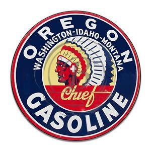 Vintage-Design-Sign-Metal-Decor-Gas-and-Oil-Sign-Oregon-Chief-Gasoline