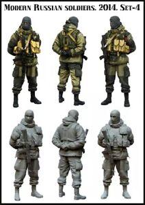 1-35-Resin-Figure-Model-Kit-Modern-Russian-Soldiers-Unpainted