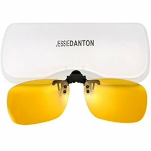 1905c7b823 JESSIEDANTON HD Night Vision Polarized Clip-on Flip Up Metal Rimless ...