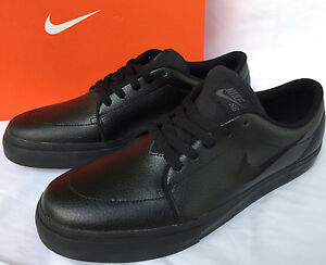 b4b9e7b3d437 Nike SB Satire 654431-002 Black Leather Skate Board Shoes Men s 9.5 ...