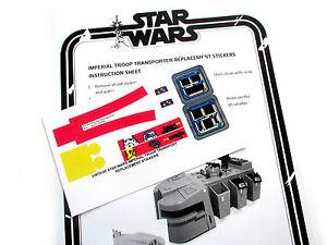 CUSTOM STAR WARS VINTAGE DIE CUT STICKERS For IMPERIAL TROOP - Star wars custom die cut stickers