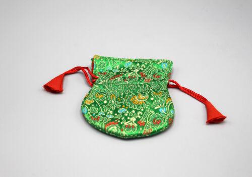 Flower Embroidery Silk Brocade Prayer Beads Pouch