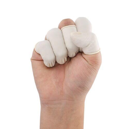 High Quality 100Pcs Latex Rubber Finger Cots Fingercots Protector Fingertip Cots