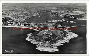 Cornwall-Falmouth-Aerial-View-Real-Photo-Vintage-Postcard-16-7