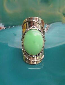 Anello-alpaca-argento-agata-verde-pietre-Etnico-Inca-Maya-indiano-stile-9