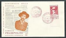 1959 ITALIA FDC GU.SA. PRAMPOLINI NO TIMBRO ARRIVO - KI1