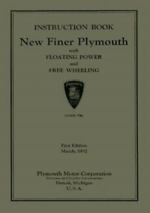 1949 Plymouth Owners Manual User Guide Reference Operator Book Fuses Fluids OEM