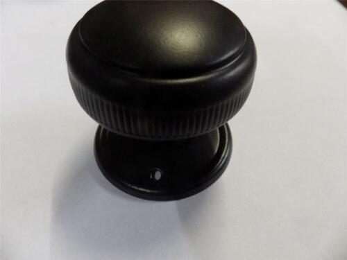 pair deco milled edge 45mm black mortice door knobs,suit carpenter etc TH 0928