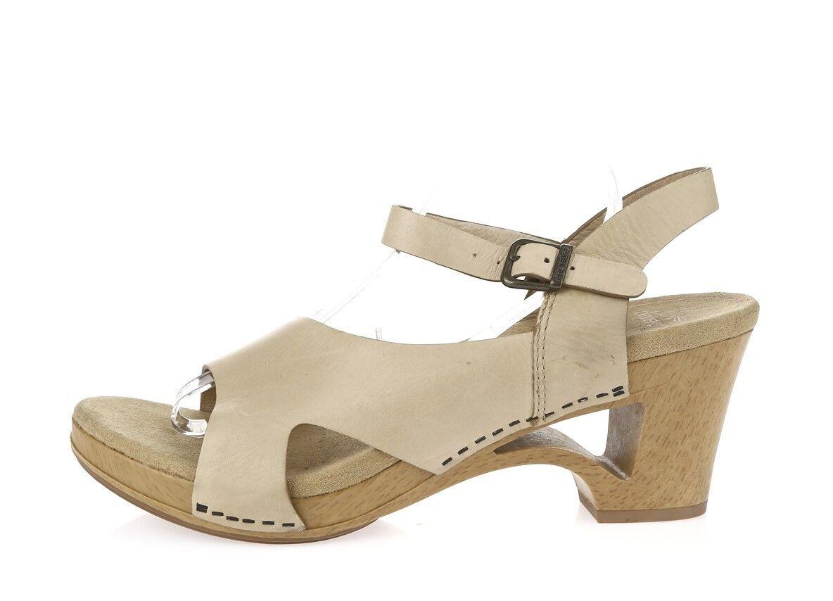 femmes Dansko beige leather sandals  chaussures sz. 41