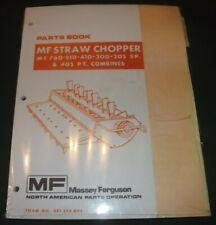 Massey Ferguson Mf 760 510 410 300 205 Combine Straw Chopper Parts Manual Book