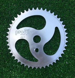 NOS Profile HURRICANE 46T Sprocket Polished BMX Chainwheel Mid School Old