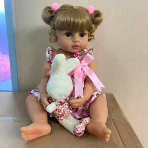 55cm Reborn Doll Girl Baby Full Body Silicone Vinyl Newborn Waterproof Toddler