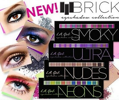 L.A. LA Girl Beauty Brick Eyeshadow Collection Palette - Pick 1 Color