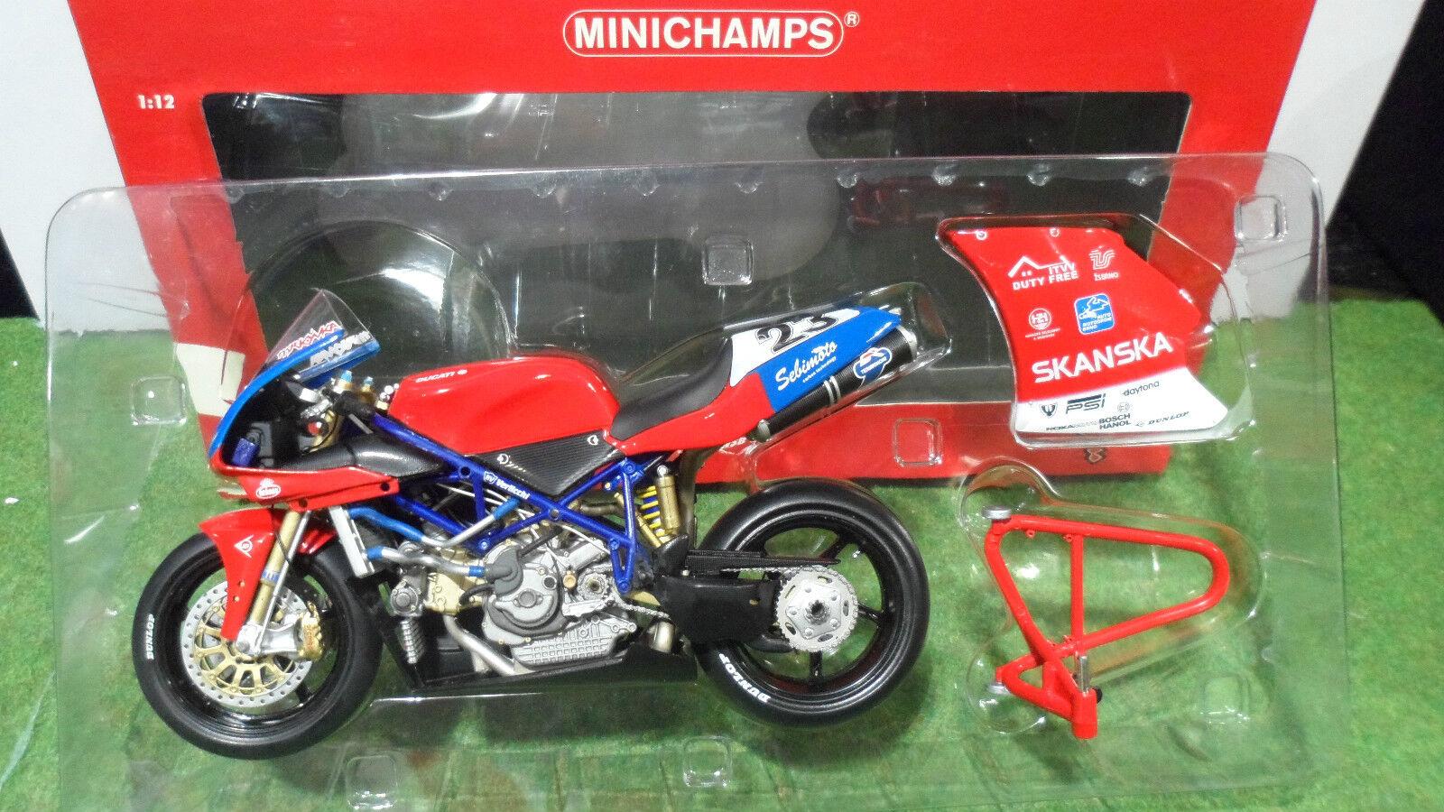 la migliore selezione di MOTO  DUCATI 998 998 998 RS WSB 2003 JIRY Mrkyvka au 1 12 Minichamps 122031223 miniature  caldo
