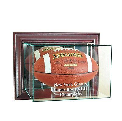 NEW YORK GIANTS SUPER BOWL XLVI FULL SIZE FOOTBALL DISPLAY CASE