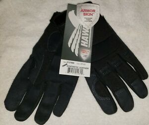 Hawk Armor Skin Synthetic Leather Tough Work Gloves 2137bk Size Xs