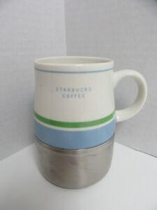 Starbucks Mug Inoxydable 2005 Pondérée Bas 14 Oz (environ 396.89 G) à Rayures En Céramique No Couvercle-afficher Le Titre D'origine Passygga-08002139-250002636