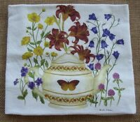 Alice's Cottage Flour Sack Towel - Teapot With Butterfly, Flowers