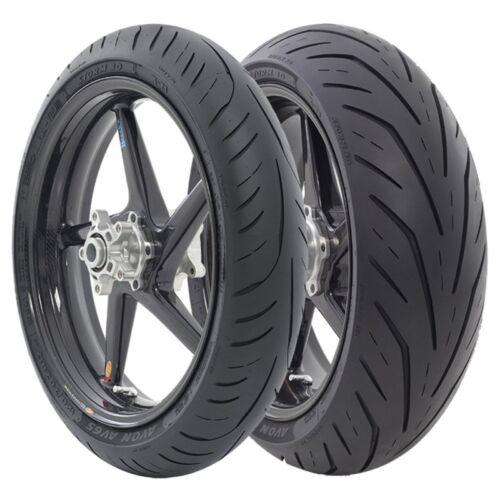 Motorcycle Tyres Avon Storm 3D X-M 120//60//ZR17 /& 160//60//ZR17 XM Pair Aprilia