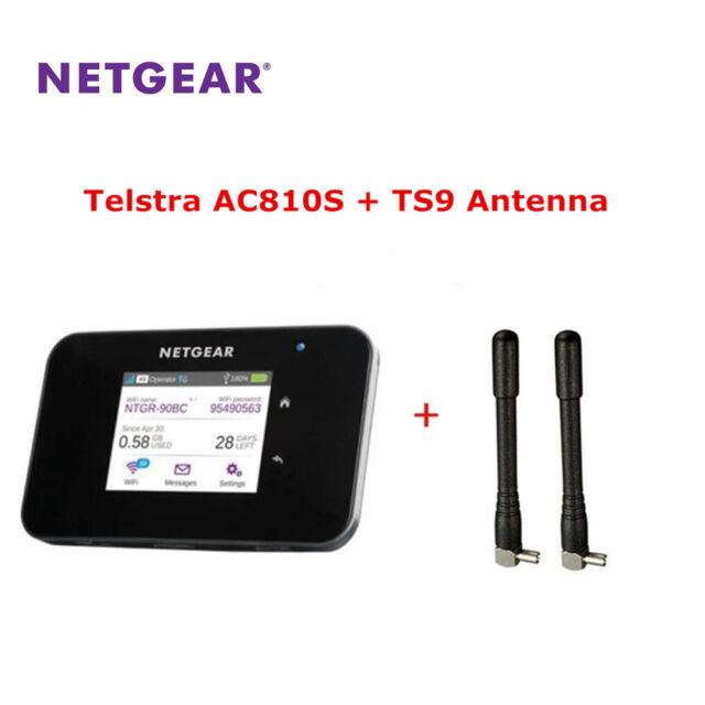 Unlocked Netgear Aircard AC810S WiFi Router 4G LTE Cat11 600Mbps  +2 PCS Antenna