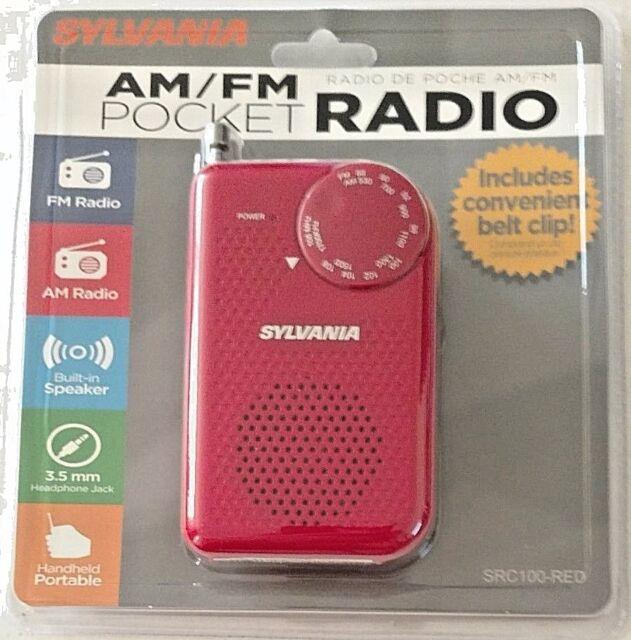 SYLVANIA SRC100-RED Portable AM//FM Radio Red