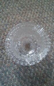 005 Vintage Fenton? Verre Transparent Marguerite & Bouton Bouilloire 3 à Pied
